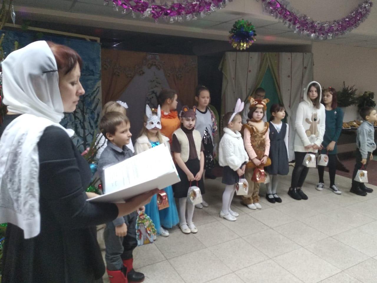 Детский Рождественский праздник в соборе