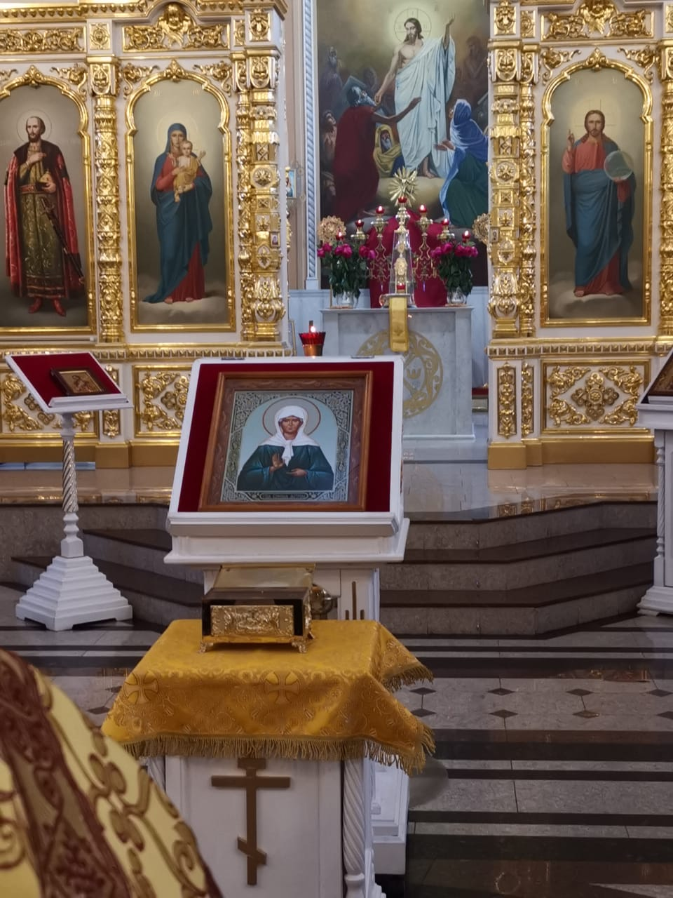 Ковчег с частью мощей святой старицы Матроны Московской прибыли на Тверскую землю